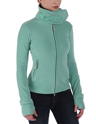 Bench Damen Sweatshirt Fleecejacke Funnelneck grün (Cremedementhe) Large