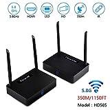 Mesigu Konvertierungsobjektiv HD585 350M 5,8 GHz 8-Kanal-TV-Wireless-SD-Audio-Video-Sender-Empfänger, IR-Fernbedienung HDMI-Sender Konvertierungsobjektiv