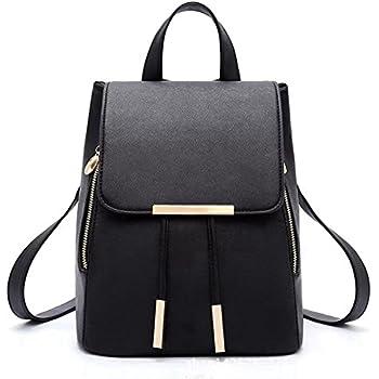 Naerde Fashion Shoulder Bag Rucksack Women PU Leather Ladies Shopping Backpack  Travel bag (black) e1cc8da024cdb