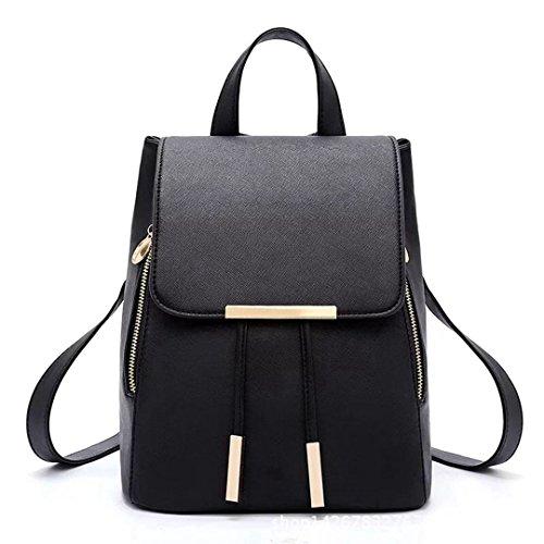3a46d1441c Borsa Naerde moda borsa a tracolla zaino donne PU Leather Ladies Shoping  zaino Travel (nero