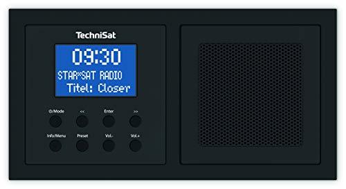 TechniSat Digitradio UP 1 DAB Unterputzradio (Radio zur Anbringung in jeder Doppel-Unterputzdose, DAB+, UKW, Bluetooth, Wecker, 2 Watt RMS) schwarz