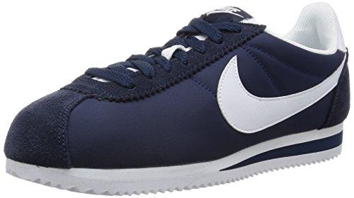 hot sale online a14c4 4c59a Nike Classic Cortez Nylon, Zapatillas para Hombre, Azul (Azul  (Obsidian White