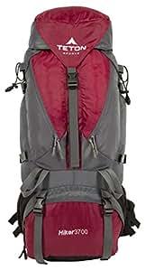 Teton Sports Hiker3700 Sac à dos Ultraléger avec Cadre Intérieur (77,5 x 32 x 32cm, rouge)