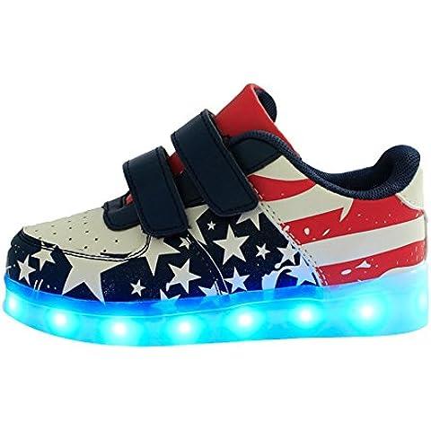 Moollyfox Niños Modelo De Estrella Usb Carga Led Luz Glow Luminosos Light Up Flashing Sneakers