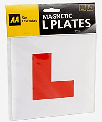 Pair Of **genuine** Aa Fully Magnetic L Plates
