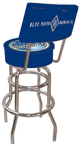 Trademark Gameroom Blue Moon Gepolsterter Barhocker mit Drehgelenk mit Rückseite - Arm-futon