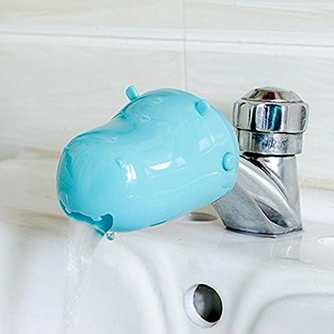 Igemy robinet Extender Lavabo Poignée extension de salle de bain pour bébé Kid enfant Lavage à la main bleu