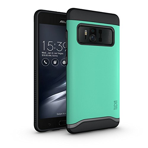 Asus ZenFone AR Hülle, TUDIA Slim-Fit Merge Dual Layer Schutzhülle für Asus ZenFone AR (ZS571KL) (Minze)