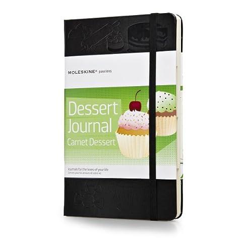 Moleskine Passion-Journal Dessert Large, Hardcover mit Prägung schwarz
