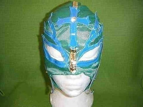 Grün Wrestling Maske für Rey Mysterio Fancy Dress Up Costume Outfit Maske Fancy Dress Up Kostüm Outfit Neue Serie mexikanischen Cosplay Rolle spielen Marke