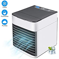 Refroidisseur D'air, Mini Refroidisseur D'air Portable 3 En 1, Mini Climatiseur USB, Humidificateur Et Purificateur Avec 10 Papiers Filtres