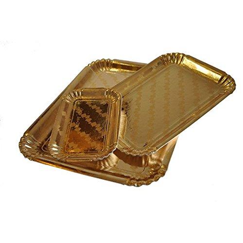 Vassoio in Cartone Oro per Dolci e Pasta n.6 cm 25,5x35 - 10pz
