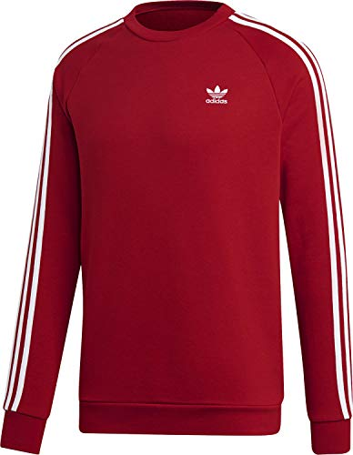 adidas Herren 3-Stripes Crew Sweatshirt, Power red XS Preisvergleich
