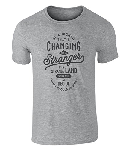 CALIFORNIA BLACK PLATE - Changing I'm a Stranger in a strange Land Statement Icon Vintage Style Grafik T-Shirt, S - XXL Sport Gray