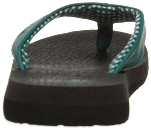 Sanuk Yoga Mat 29418063 Damen Zehentrenner Evergreen