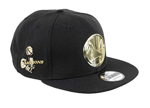 best website 0f73f 49cf5 New Era Golden State Warriors 9fifty Snapback Gold Metal Badge Black -  One-Size