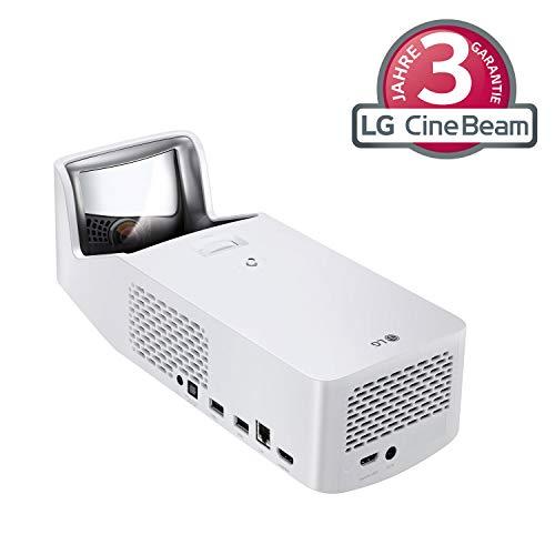 LG Beamer HF65LSR bis 254cm (100 Zoll) CineBeam Full HD Ultrakurzdistanz LED Projektor (1000 Lumen, Drahtlose Screen-Share-Funktion, webOS), weiß Lg Star