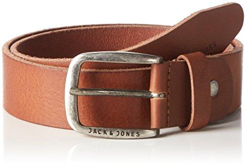 JACK & JONES Herren JJIPAUL JJLEATHER BELT NOOS Gürtel, Braun Mocha Bisque, 90 cm (Herstellergröße: 90)