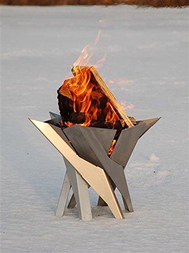 Svenskav Design-Feuerkorb/Feuerschale'Phoenix' aus massivem Stahl Gr. XXL