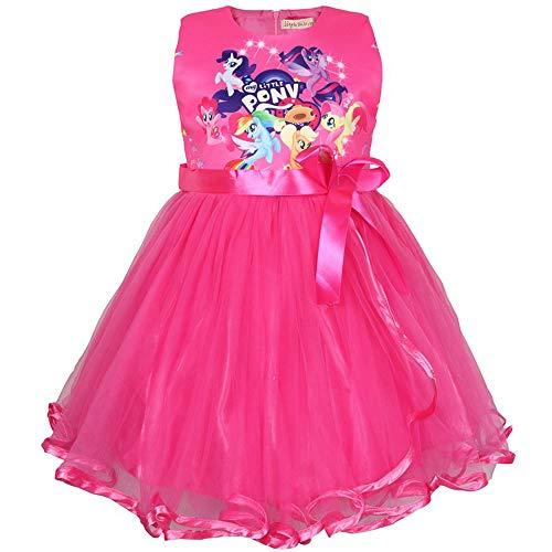 QYS Mein kleines Pony Kostüm Mädchen Cartoon Childs Kinderkostüm Outfi,Red,110cm