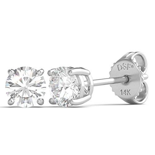 Diamond Studs Forever - Ohrstecker mit 1/2 ct. Diamanten GH/I2-I3 - Weißgold 14 Karat