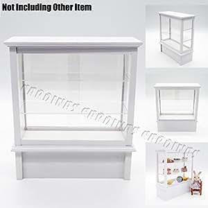 Odoria 1/12 Miniatur Ladenmöbel Holz Kühlvitrine mit
