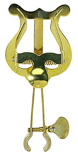 Gewa 730570 Marschnotenhalter Trompete große Lyra, 2 Drücker, Messing