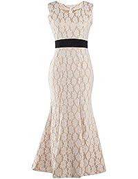 Mujer Vintage Vestido Largo Elegante Coctel Partito Ropa de Fiesta Maxi Vestido