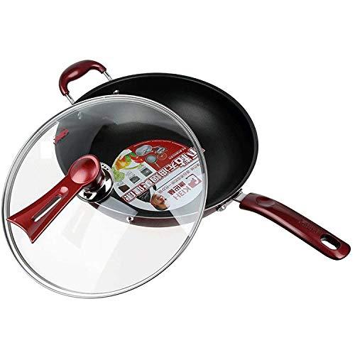 irugh Antiadherente olla fumadores sartén inducción cocina gas horno General pan