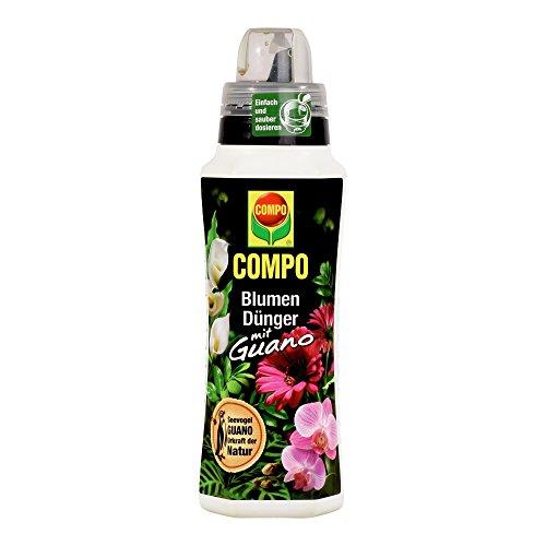 COMPO Blumendünger mit Guano für alle Zimmer-, Balkon- und Terrassenpflanzen, Universaldünger, 500 ml
