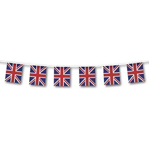 40m Plastic Great Britain Union Jack Large Flag Bunting by Great British Street Party