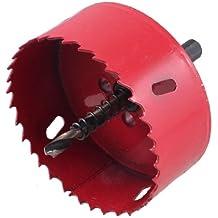 6mm Twist foret bois fer de coupe 85mm Diamètre bimétallique Scie Rouge Noir