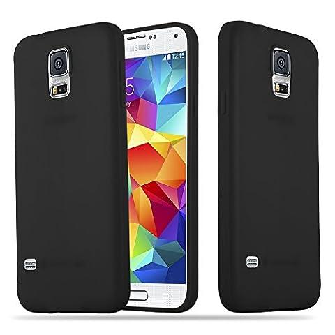 Cadorabo - Ultra Slim TPU Candy Etui Housse Gel (silicone) pour Samsung Galaxy S5 - Coque Case Cover Bumper en CANDY-NOIR