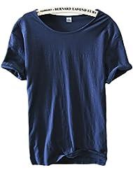 Insun Hommes T-Shirt en Coton Manches courtes Tees Crew Neck Sport Shirt Design