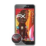 atFolix Schutzfolie passend für Oukitel U2 Folie, entspiegelnde & Flexible FX Bildschirmschutzfolie (3X)