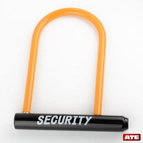U Type Motorcycle Lock ,Security Bike Lock, Helmet U Lock with Key by ATEpro - U-bike Lock