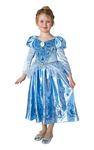 Rubie 's 640080M Mädchen Disney Prinzessin Winter Cinderella Kostüm, Mittel (Halloween-kostüm Disney Cinderella)
