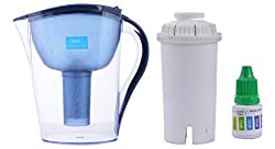 BIO+ 3.5-Litre Alkaline Water Purifier with Cartridge and pH Testing Bottle (Blue)