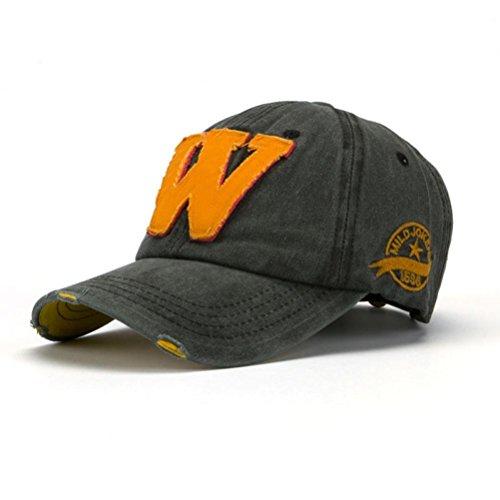 Buchstaben Hockey (Omiky® Hysteresen-Hut-Unisexsommer-Buchstabe W-Hockey-Baseballmütze-Hip Hop-Hüte (#C))