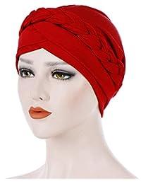 F.lashes Femme Bonnet Musulmane Chimio Turban pour Cancer Perte de Cheveux  Cancer Chimiothérapie Turban Foulard Islamique Bonnet de… ab1d3d6eb81