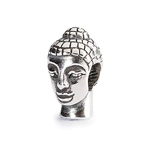 Trollbeads Damen-Bead Kopf des Buddha 925 Silber - TAGBE-10037 - Buddha Bead