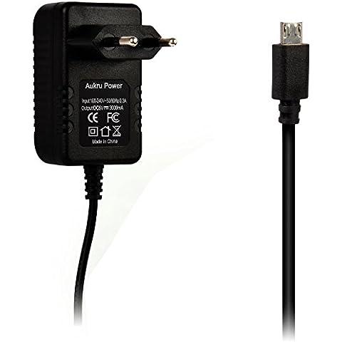 Aukru Micro USB 5V 3000mA Cargador Adaptador para Raspberry Pi 3 Model B y Raspberry Pi 2 Model B , Banana