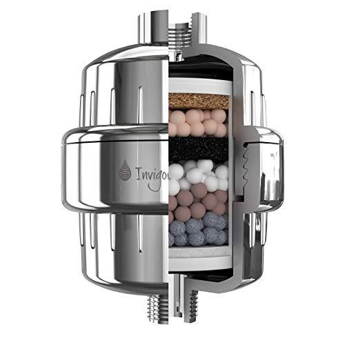 Invigorated Water PH Energize - Filtro per Doccia ad 8 stadi di filtraggio - filtra Cloro, Fluoro, Metalli Pesanti