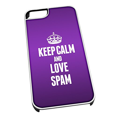 bianco-cover-per-iphone-5-5s-1543-viola-keep-calm-and-love-spam