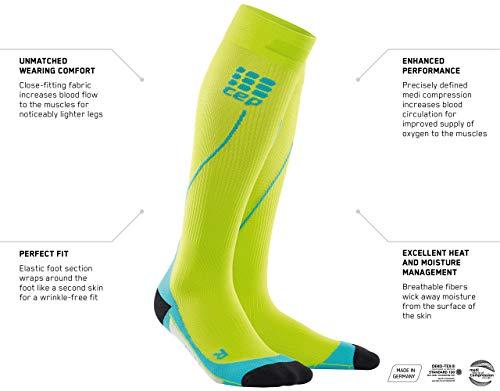 CEP - RUN SOCKS 2.0, long running socks for women, black / black, size IV, compression sport socks