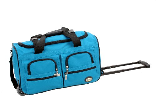 rockland-luggage-22-inch-rolling-duffle-bag-turquoise-medium