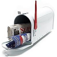 Buzón US Mail diseño Blanco americano decorativo Correo Postal Soporte de pared pie