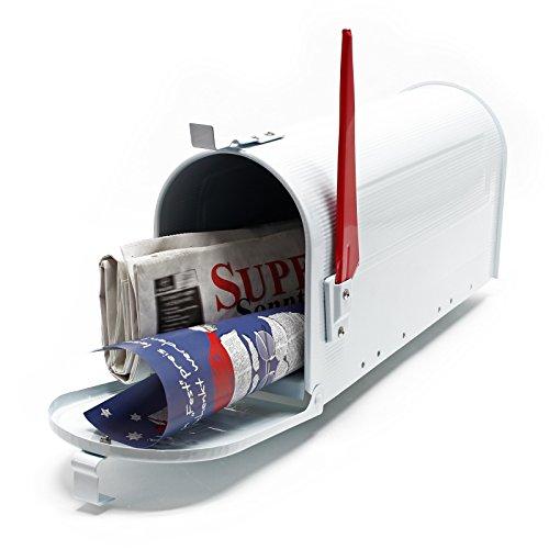 US Mailbox Amerikanisches Design Weiß Briefkasten Standbriefkasten