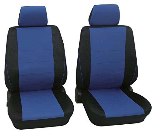 Preisvergleich Produktbild Sitzbezug Schonbezug Autositzbezug, Vordersitzbezüge, Seat Cordoba, Schwarz, Blau