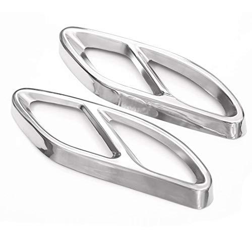 TOOGOO Top qualità per Mercedes Benz Glc ABC Eclass W205 Coupe W213 W176 W246 2016-17 Accessorio Auto Amg Copertura di Scarico Trim Acciaio 304 (Argento)